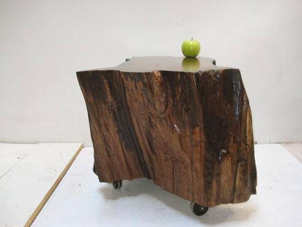 Walnut Caster Table